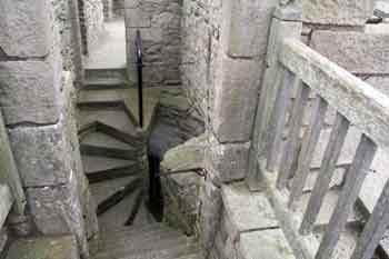 Craigmillar Castle, spiral staircase