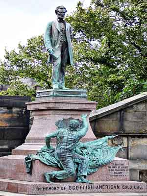 Old Calton Burial Ground, Scottish American Soldiers Monument